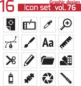 Conjunto de iconos vector negro diseño gráfico — Vector de stock