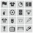 Stock Vector: Vector black soccer icons set