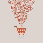 Shopping cart concept — Stock Vector