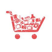 Shopping cart concepts — Stock Vector