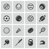 Vector black sport icons set — Stock Vector