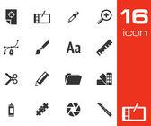 Wektor zestaw ikon czarny graficzny design — Wektor stockowy