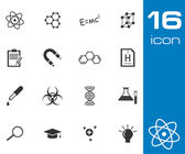 Vector black science icon set — Stock Vector