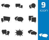 Vector black speech bubble icons set — Stock Vector