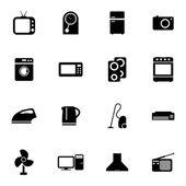 Conjunto de iconos casa vector negro — Vector de stock