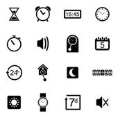 Vector black  travel icons set — Stock Vector