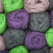 Natural wool yarn - Stock Photo
