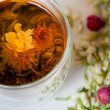 Flowering Tea and Dry Flowers — Stock Photo #18363771