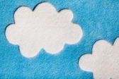 Felted Clouds — Stock Photo