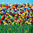 Stock Photo: Flower Field Acrylic Art Texture