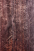 Scratched Wood Fence Plank with Knots — Stock Photo