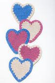 Szydełkowe z serca — Zdjęcie stockowe