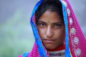 A tribal girl from Rajasthan — Stock Photo