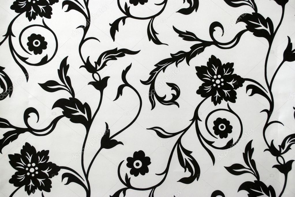 dekorative tapeten mit blumenmuster in schwarz und wei stockfoto chandanaroy 31837731. Black Bedroom Furniture Sets. Home Design Ideas