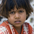 Stock Photo: Poor slum girl from India