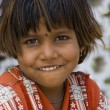 A poor slum girl from India — Stock Photo