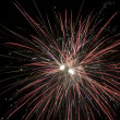 Firework on black sky — Stock Photo
