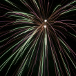 Stock Photo: Firework on black sky