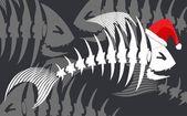 Fish bone — Stock Vector