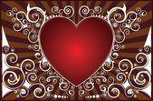 Swirl valentine's heart — Stock Vector
