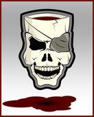 Skull on gray — Stock Vector
