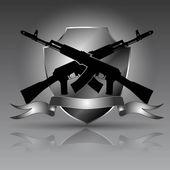 Assault rifle AK 47 — Stock Vector