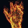 Burning arm — Stock Photo #22705401