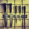Knifes on the wall — Stock Photo