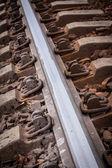 Railroad tracks to nowhere — Stock Photo