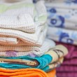 Foto de Stock  : Stacked linen