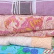 Stock Photo: Stacked linen
