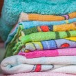 Foto Stock: Stacked linen