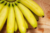 Bananas on a wooden table — Stock Photo
