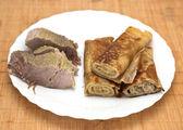 Panquecas com carne — Foto Stock