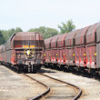 Stock Photo: Wagons for goods transportation