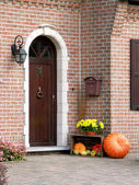 Friendly entance door — Stock Photo