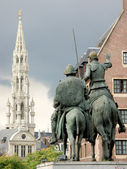 Don quichotte v bruselu — Stock fotografie