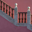 Mediterranean stairs with warm colors — Stock Photo