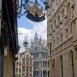 Brussels Grand place from the street — Stock Photo