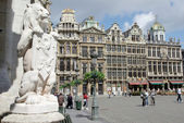 Vista grand place de bruxelas — Foto Stock