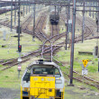 Stock Photo: Yellow Locomotive and exchanger