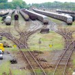 Exchanger and train convoi - Stockfoto