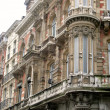 Architectural detail of a facade,Brussels — Stock Photo