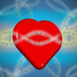 Valentine heart with love dna - Stock Photo