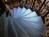 Spiral staircase in metal — Stock Photo
