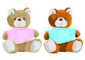 Teddy Bears, for boys and girls — Stockvektor