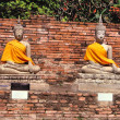 Stock Photo: Buddhstatues. Temple in Ayutthaya
