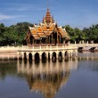 Pagoda reflecting in water. Bangkok.Thailand. — Stock Photo