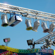 Stock Photo: Colorful spotlights of fair