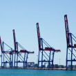 The docks of Malaga harbour — Stock Photo